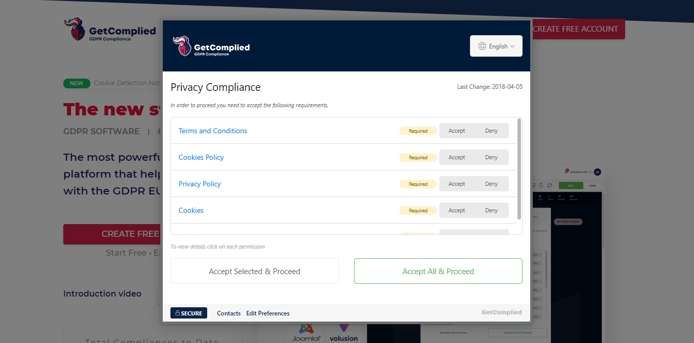 Get started in GetComplied GDPR software