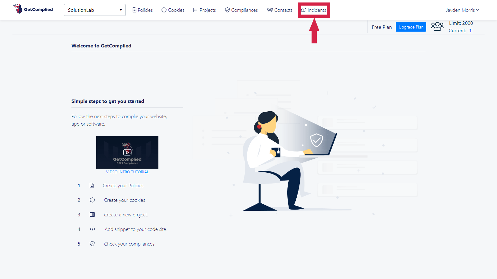 GetComplied manage incidents