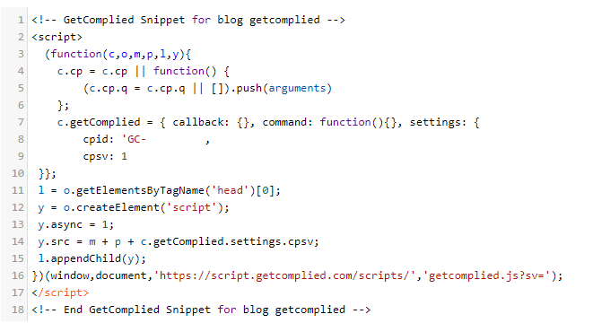 Code snippet GetComplied