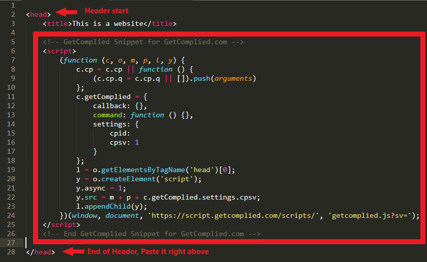 code snippet paste