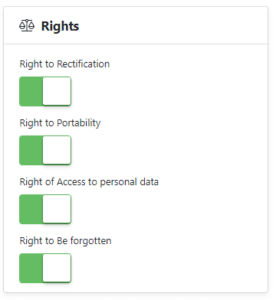 user rights switches