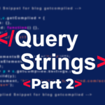 Formularios de submissão: utilizar query strings
