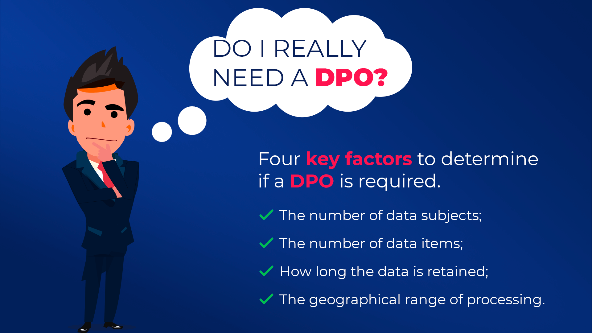 four key factors to determine if a dpo is required